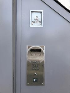 ast london door handset installed on wall