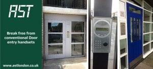ast london door entry handsets installed