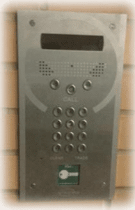 ast london door entry handset on wall