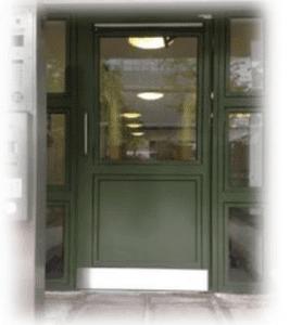 ast london steel security door in green