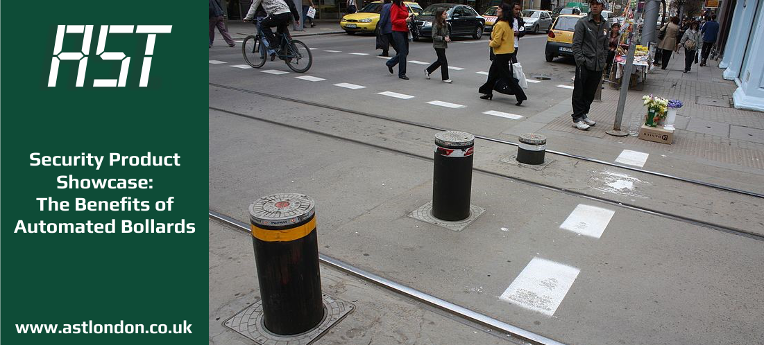 bollards on a London street