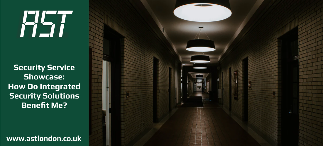 a dimly-lit hallway with many commercial doors