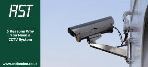 a CCTV camera on a bracket on a building