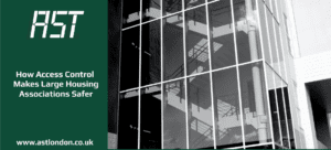 Glass window of large housing association