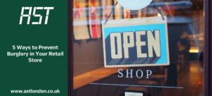 'Open' sign on shop door